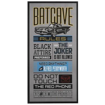 Batman Batcave Rules Wood Wall Sculpture
