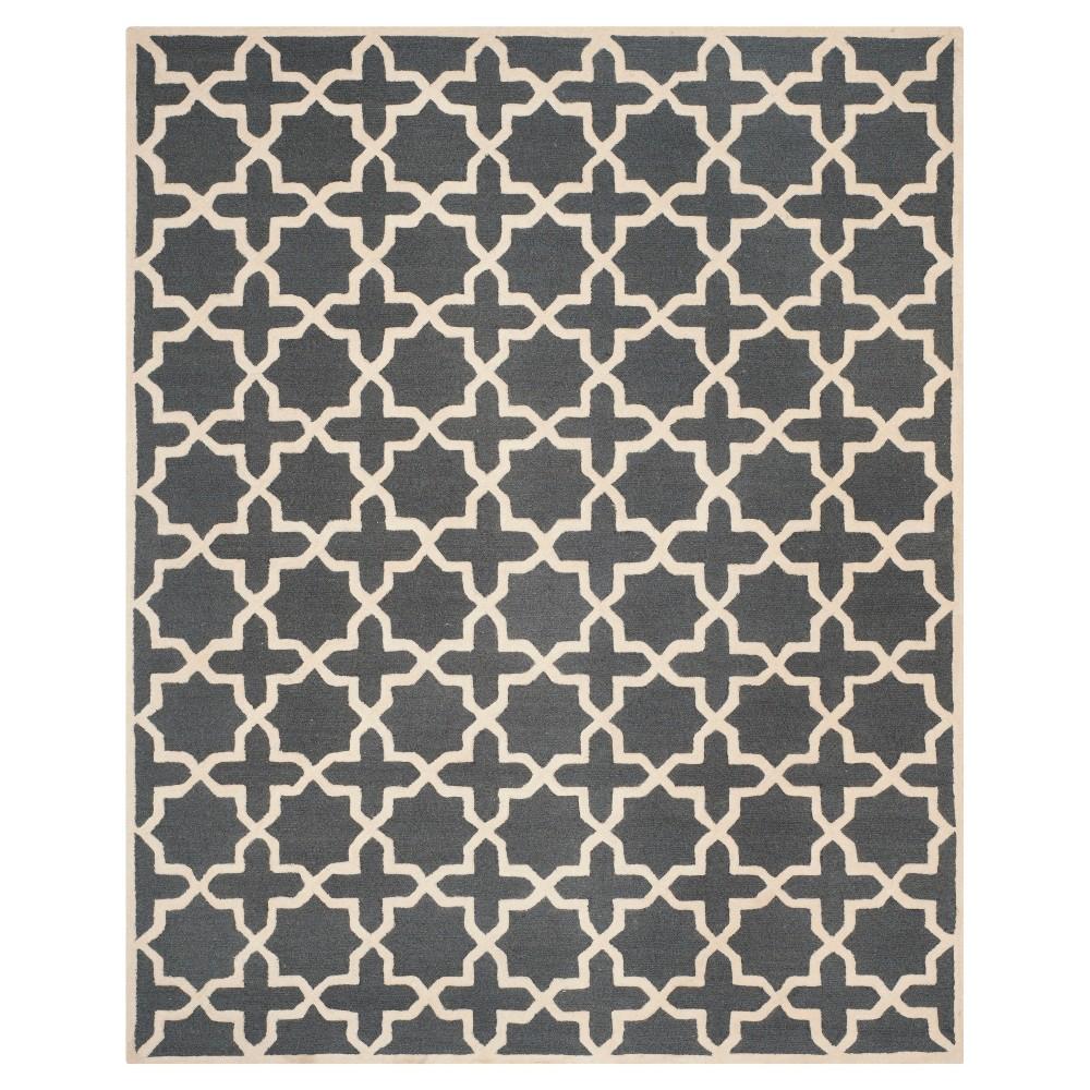 Discounts 9X12 Geometric Area Rug Dark Gray Ivory - Safavieh