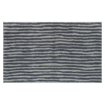 Striped Bath Rug Gray - Pillowfort™