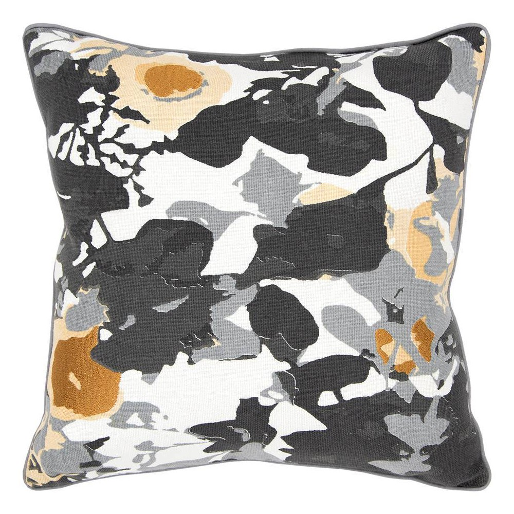Image of Connie Post Solid Poly Filled Square Pillow Black - Rizzy Home