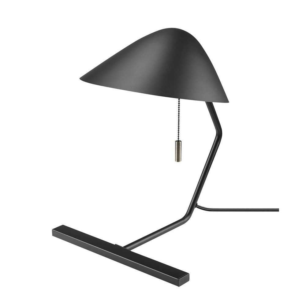 15 34 Belgrove Table Lamp Matte Black Antique Brass Globe Electric