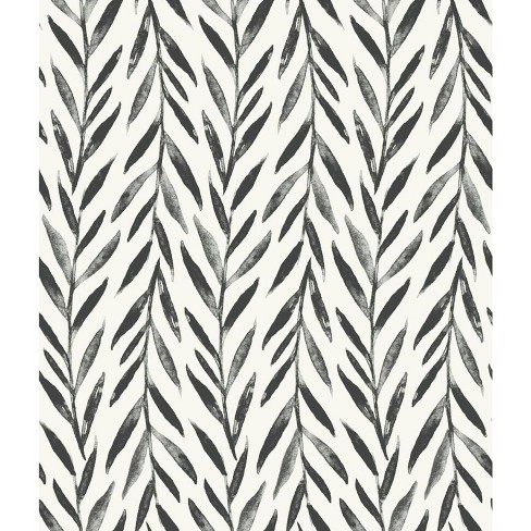 RoomMates Willow Magnolia Home Wallpaper Black - image 1 of 2