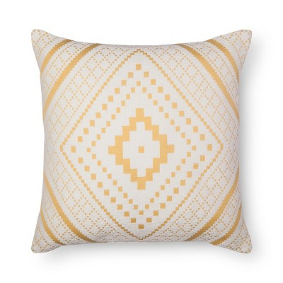 Yellow Woven Diamond Oversized Throw Pillow - Threshold™