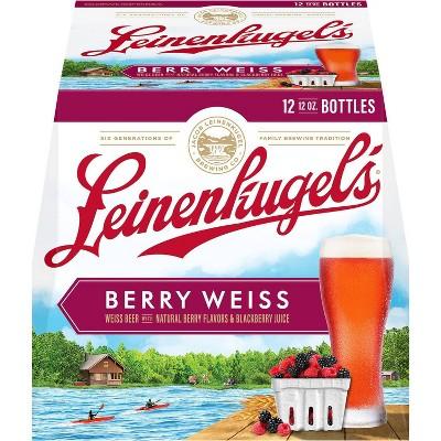 Leinenkugel's Berry Weiss Lager Beer - 12pk/12 fl oz Bottles