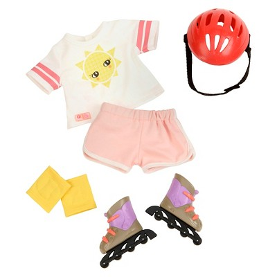 """Our Generation Fashion Outfit with Roller Skates for 18"""" Dolls - Roll With It"""