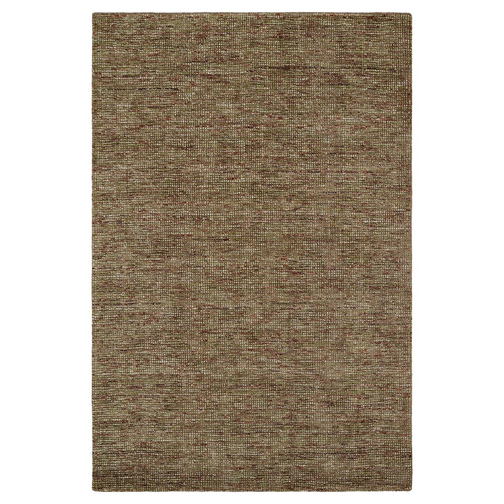 Brown Solid Loomed Area Rug - (5'X7'6)