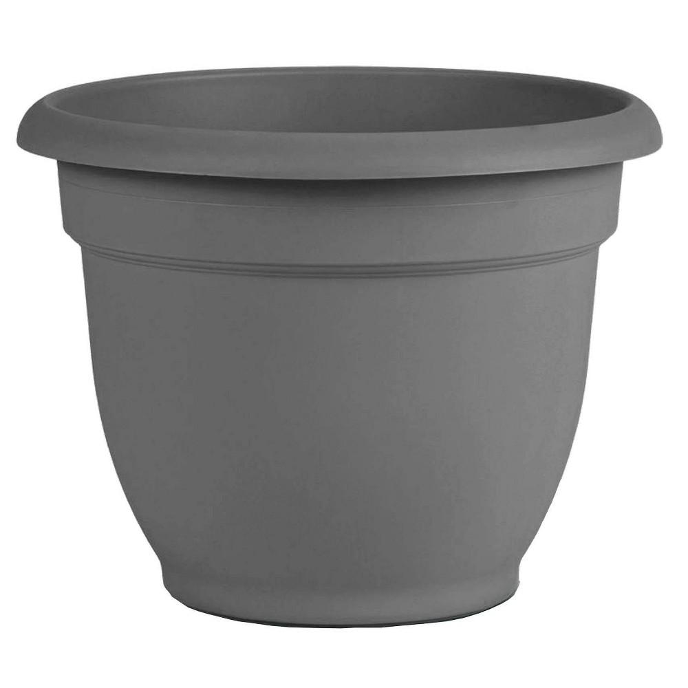 "Image of ""10"""" Ariana Self Watering Planter Charcoal - Bloem"""