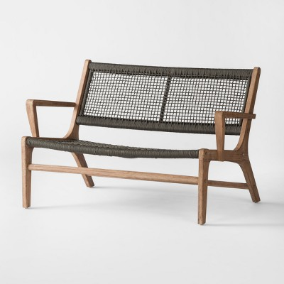 Oceans Wood & Rope Patio Loveseat - Project 62™