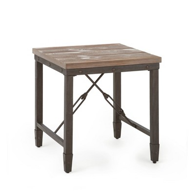 Jersey End Table Antique Oak - Steve Silver