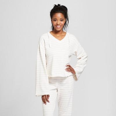 7a2bc68773376 Womens Striped Hooded Sweatshirt – Xhilaration™ Cream XL – Target ...