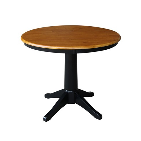 """36"""" Mark Round Top Pedestal Table Black/Cherry - International Concepts - image 1 of 4"""