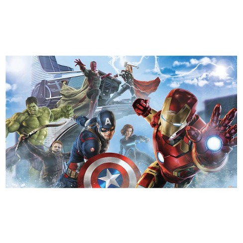 RoomMates Avengers Age of Ultron Character XL Chair Rail Prepasted Mural 6' x 10.5' - Ultra-strippable - image 1 of 2