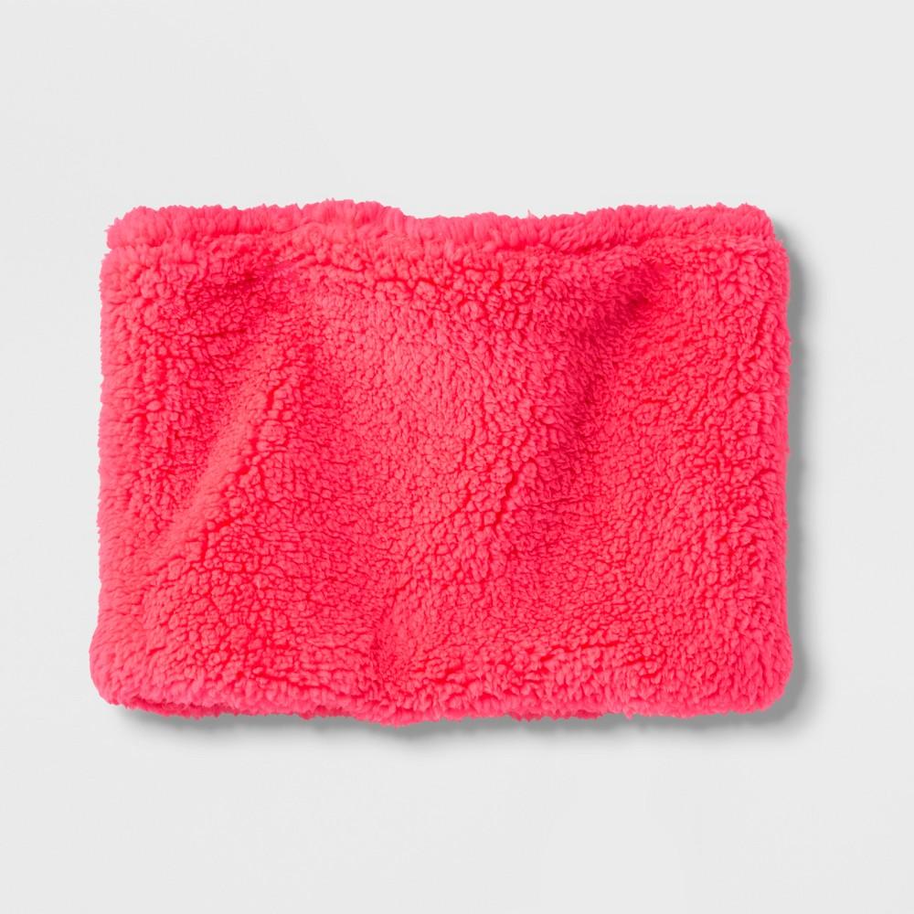Girls' Fleece Neckwarmer - Cat & Jack Pink One Size