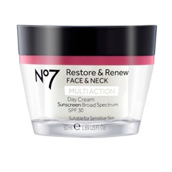 No7 Restore & Renew Face & Neck Multi Action Day Cream SPF 30 1.69oz
