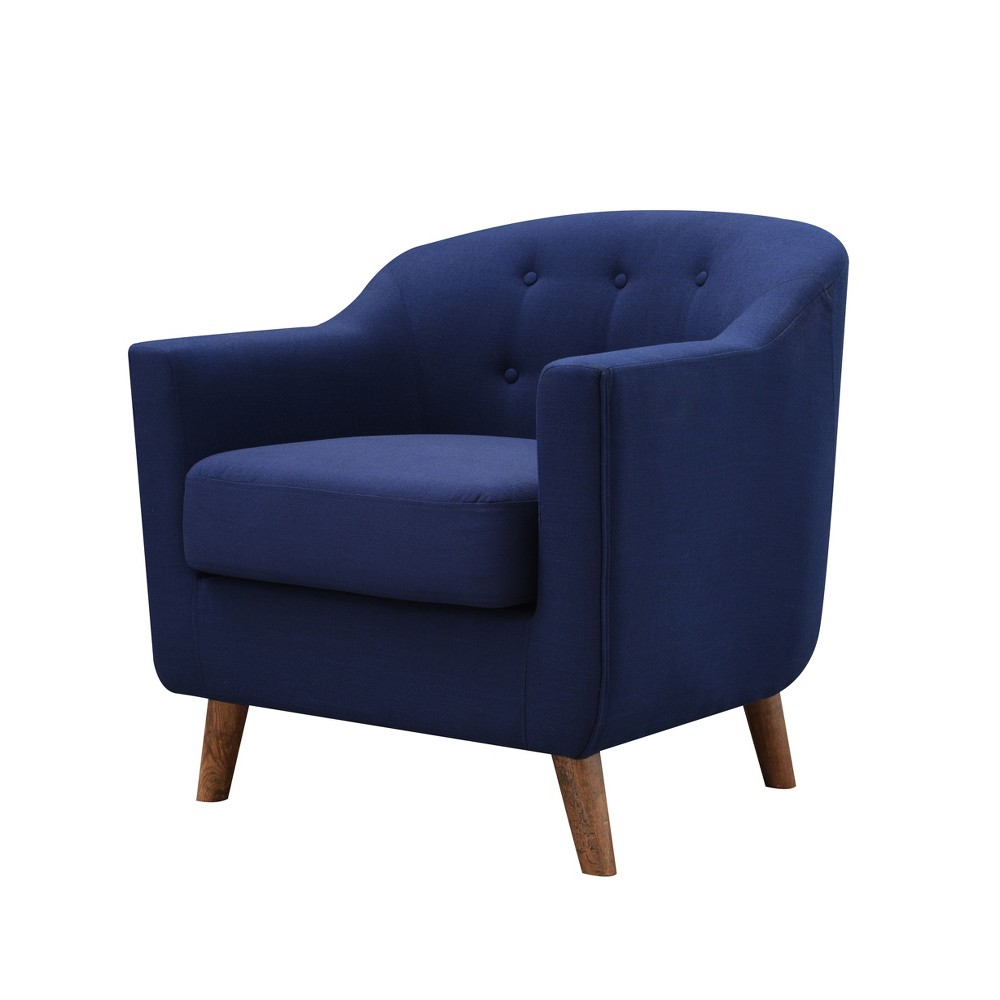 Belka Tufted Upholstered Accent Chair Dressy Blue - miBasics, Royal Blue