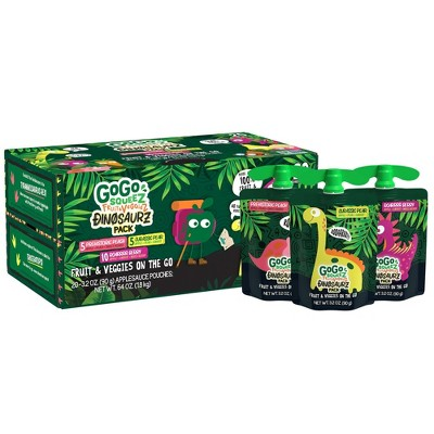 GoGo SqueeZ Fruit & VeggieZ Dino Variety Pack - 3.2oz/20ct