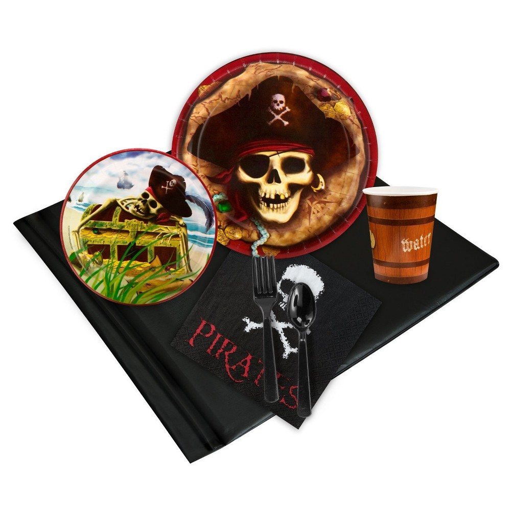 Pirates 16 Guest Black Party Pack