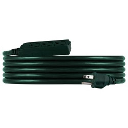 Philips 8' 3-Outlet Grounded Extension Cord Outdoor Green