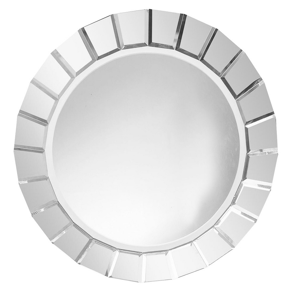 Round Fortune Frameless Decorative Wall Mirror - Uttermost, Clear