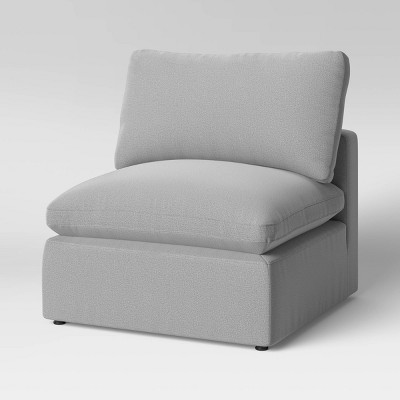 Allandale Modular Armless Sectional Sofa Chair Gray - Project 62™