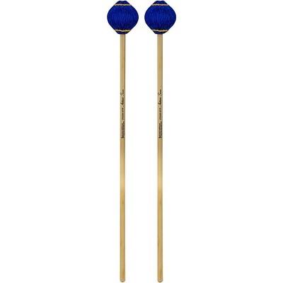 Innovative Percussion Artisan Series Multi-Tone Rattan Handle Marimba Mallets Royal Blue Yarn