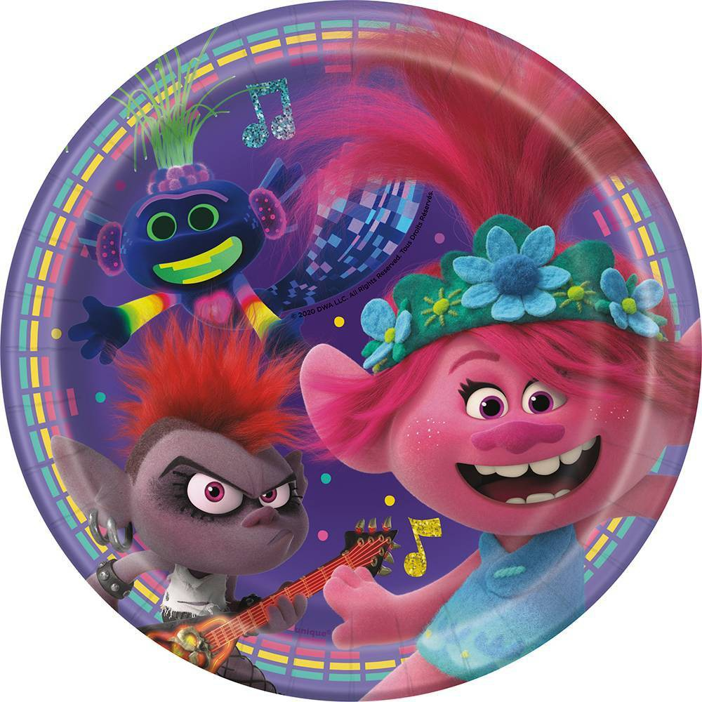 "Image of ""7"""" 8ct Trolls World Tour Plate"""