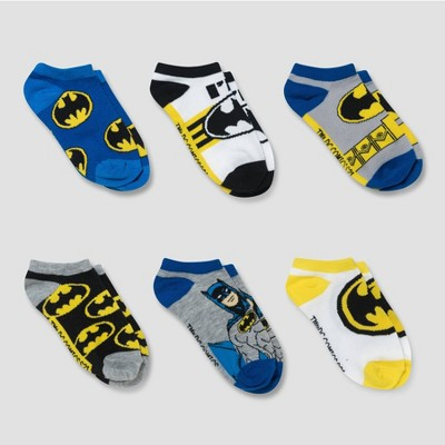 Boys' Batman 6pk No Show Socks