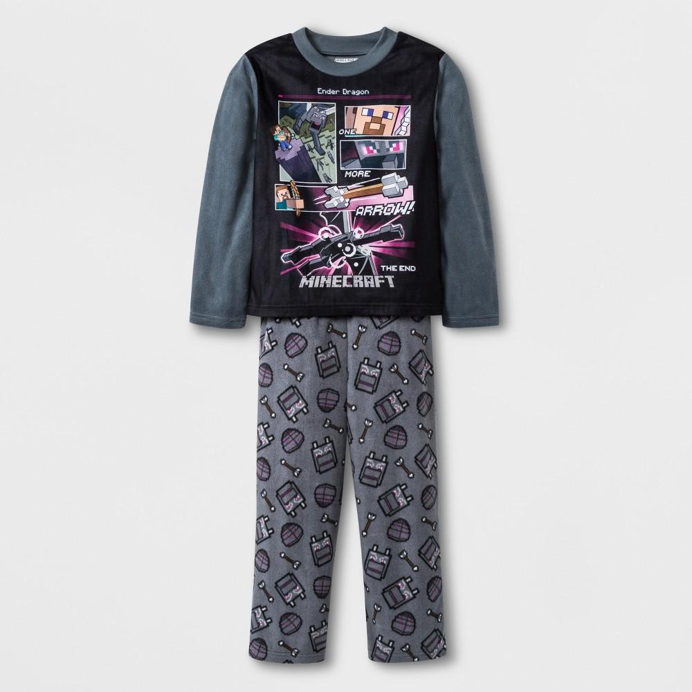 Boys' Minecraft 2pc Pajama Set - Gray 12