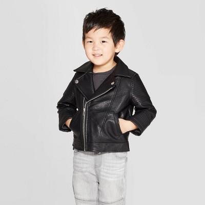 Toddler Boys' Moto Jacket - art class™ Black 18M
