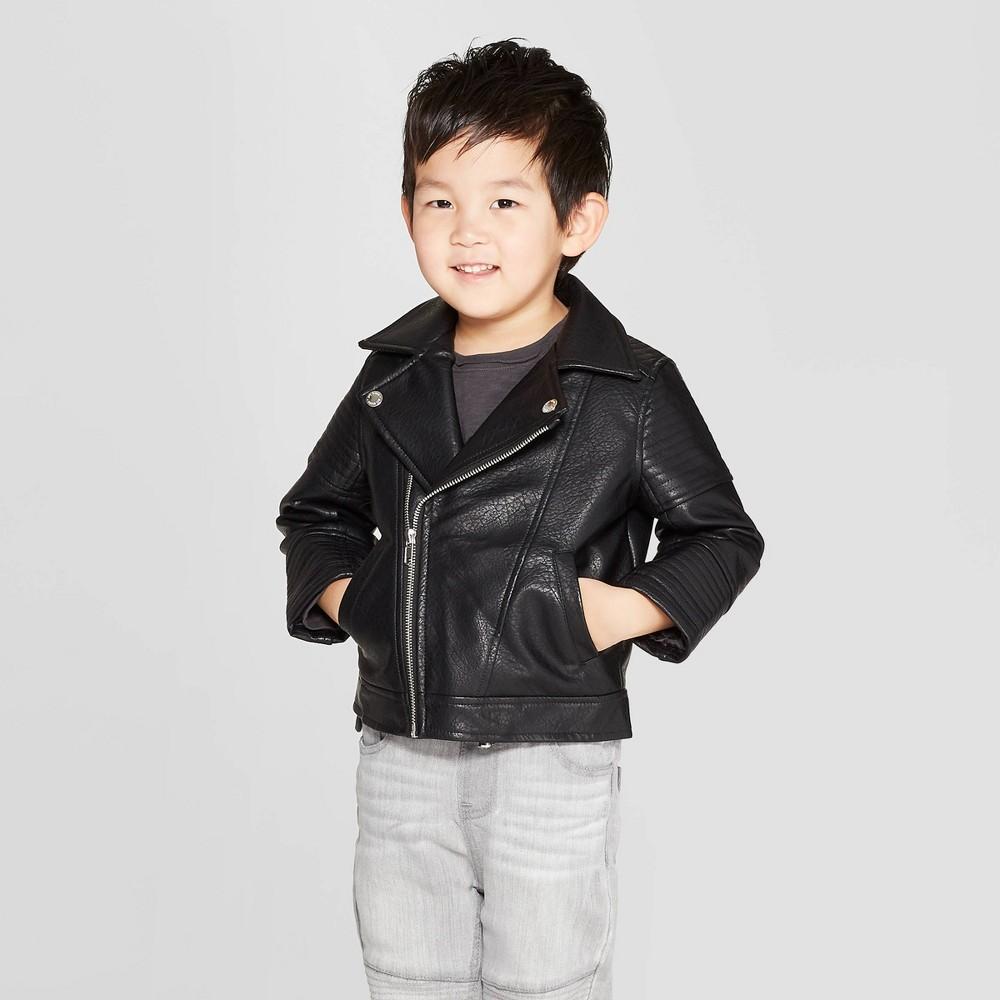 Toddler Boys' Moto Jacket - art class Black 4T