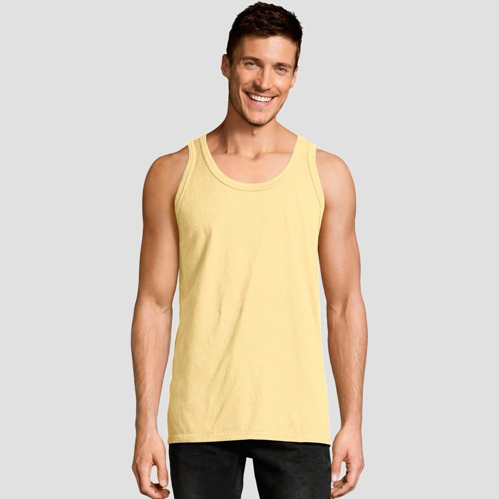 Hanes Men 39 S 1901 Garment Dyed Tank Top Yellow S