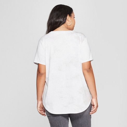 f9da0f4a2631 Women's Plus Size Short Sleeve But First Coffee Graphic T-Shirt - Freeze  (Juniors') White/Charcoal : Target