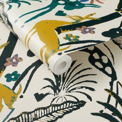 Fiesta Animals Peel and Stick Wallpaper Cream - Opalhouse™ designed with Jungalow™