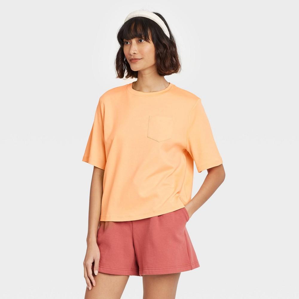 Women 39 S Short Sleeve T Shirt A New Day 8482 Orange Xl