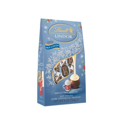 Lindt Lindor Holiday Hot Cocoa Dark Chocolate Truffles - 6oz