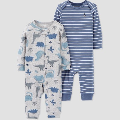 Baby Boys' 2pk Dino Coveralls - Just One You® made by carter's Gray/Blue 3M