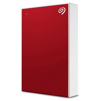 Seagate One Touch 5TB External HHD Drive with Rescue Data Recovery Services, Red (STKC5000403)