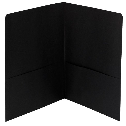 Smead Embossed Portfolio, Heavy-Duty Paper, Two-Pocket , Black, pk of 25 - image 1 of 2