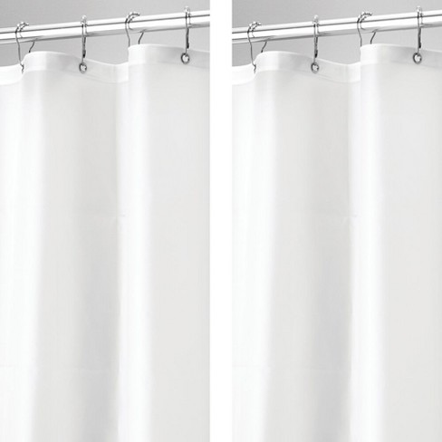 Mdesign Stall Size Waterproof Vinyl, What Size Shower Curtain Liner Do I Need