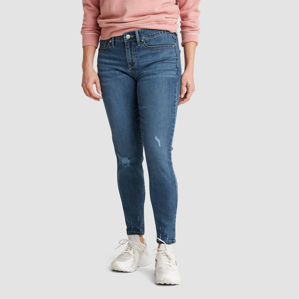 Denizen 174 From Levi 39 S 174 Women 39 S Mid Rise Skinny Jeans Dawn Blue 18 Long