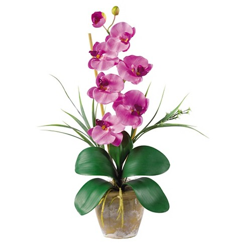 Nearly Natural Phalaenopsis Silk Orchid Flower Arrangement Mauve