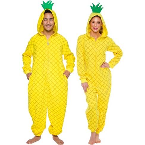 Funziez! Pineapple Slim Fit Adult Unisex Novelty Union Suit - image 1 of 4