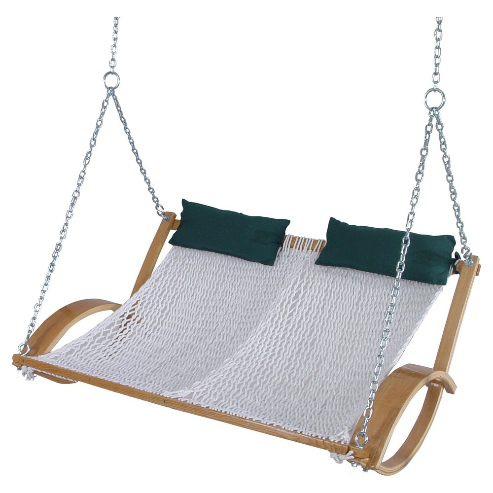 Image of Original Pawleys Island Polyester Double Rope Swing - White