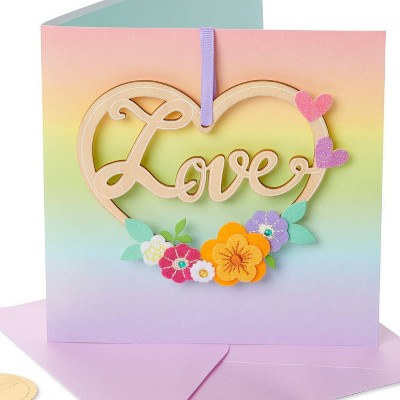 Wreath 'Love' Card - PAPYRUS