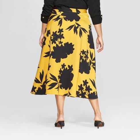 Women S Plus Size Knit Maxi Skirt Black X Ava Viv