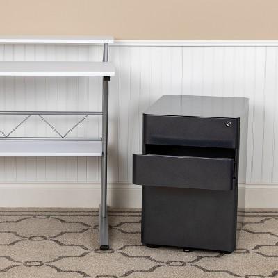 Emma and Oliver Modern 3-Drawer Mobile Locking Filing Cabinet Storage Organizer