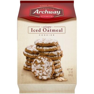 Archway Classics Crispy Iced Oatmeal Cookies - 12oz