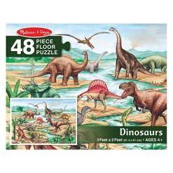 Melissa And Doug Dinosaurs Jumbo Floor Puzzle 48pc