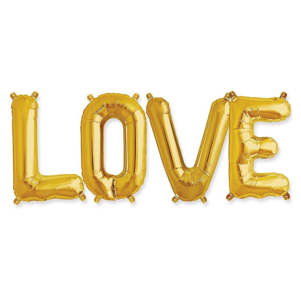 "Image of ""34""""""""Love"""" Balloon Kit Gold"""