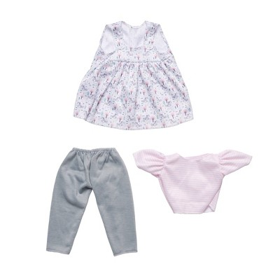 """Perfectly Cute Floral Fancy 3pc Outfit - for 14"""" Dolls"""